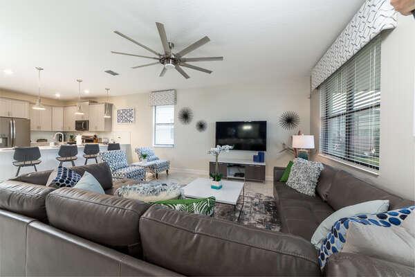 Plush family living room