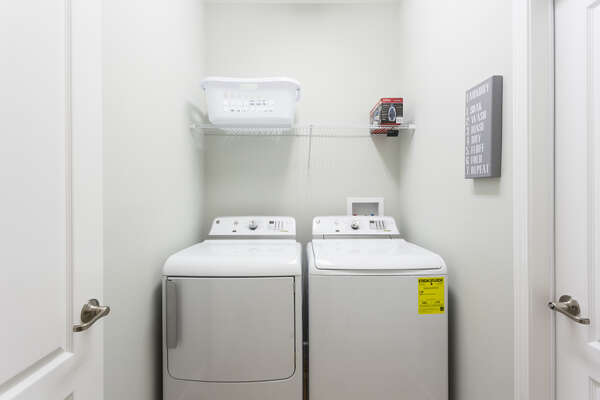 Your private washer and dryer in the home