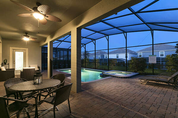 Get comfortable under the covered lanai