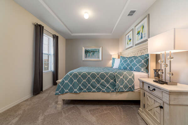 Make yourself feel at home in his master bedroom