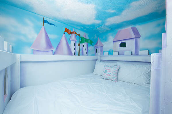 Get the royal treatment staying in this fun room