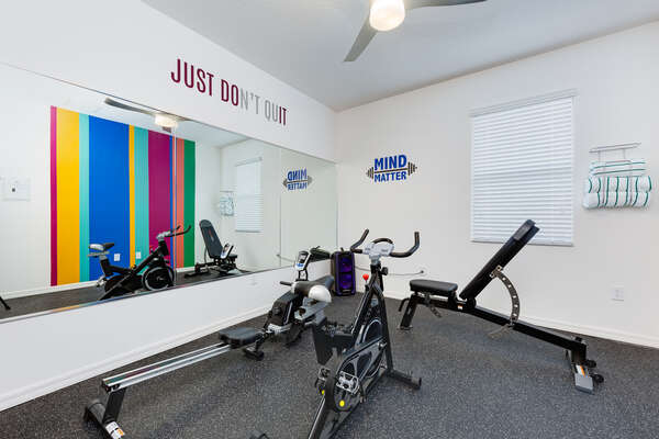 Down stairs fitness room
