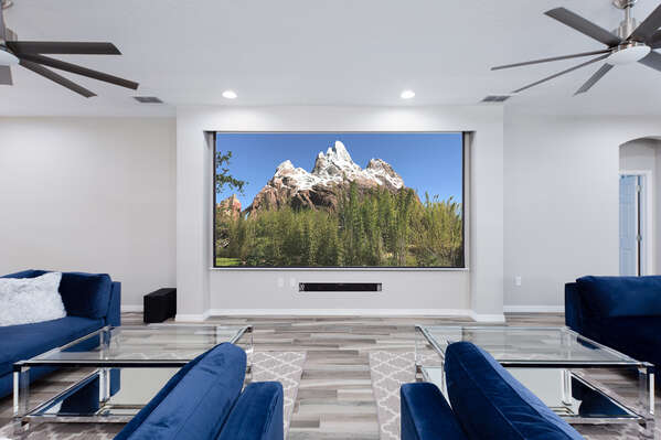 The great room features cable and an Apple TV with Netflix capability