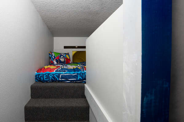 Climb up to these comfortable beds