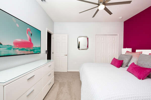 Relax and watch TV from your bed