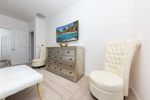 Enjoy this nice seating area in your master suite