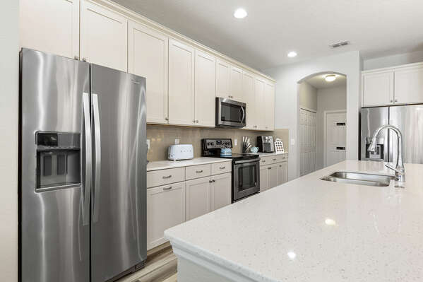 Plenty of space to prepare family meals in the kitchen