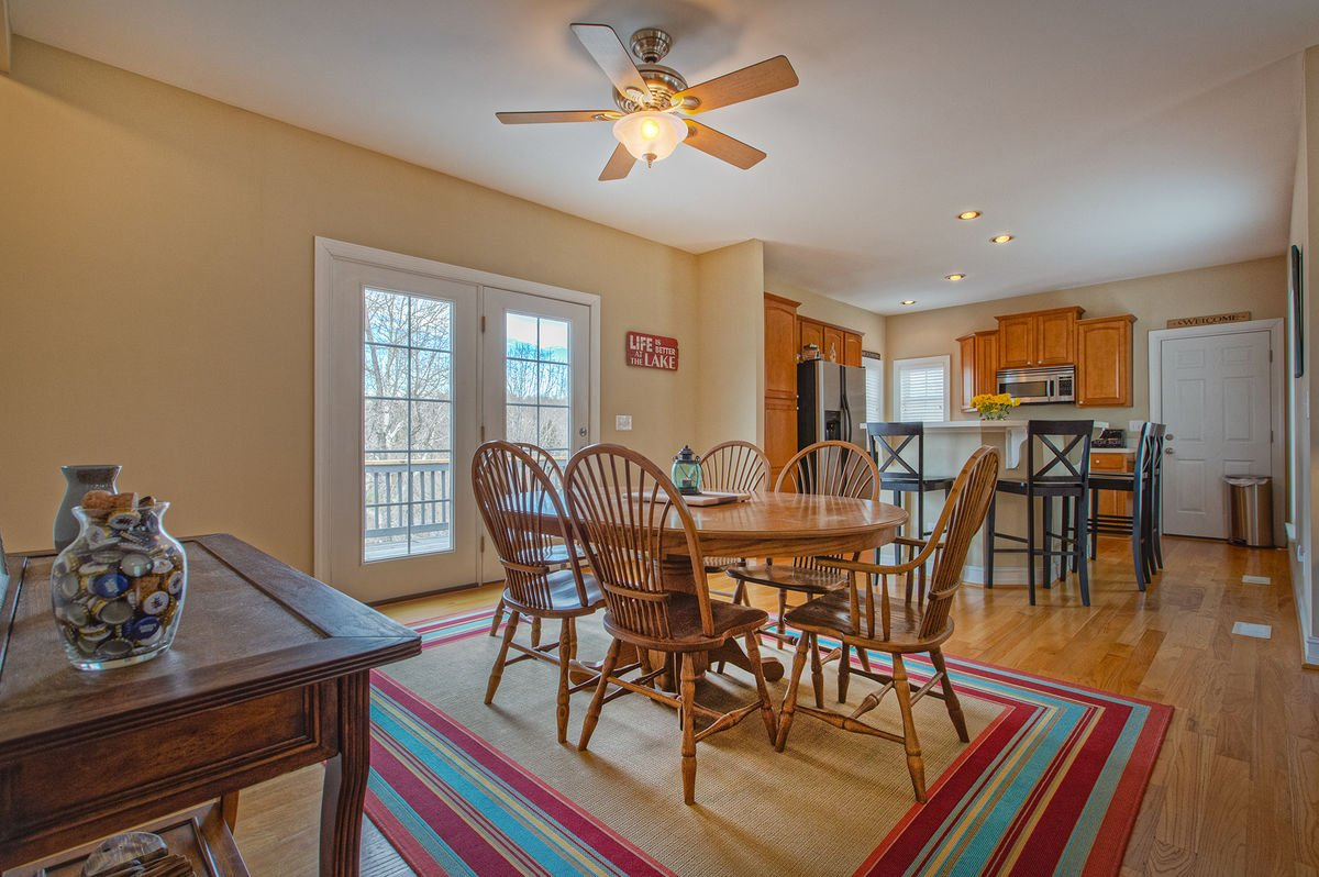 Dining Table with Room for 6 Guests in our Smith Mountain Vacation Rental