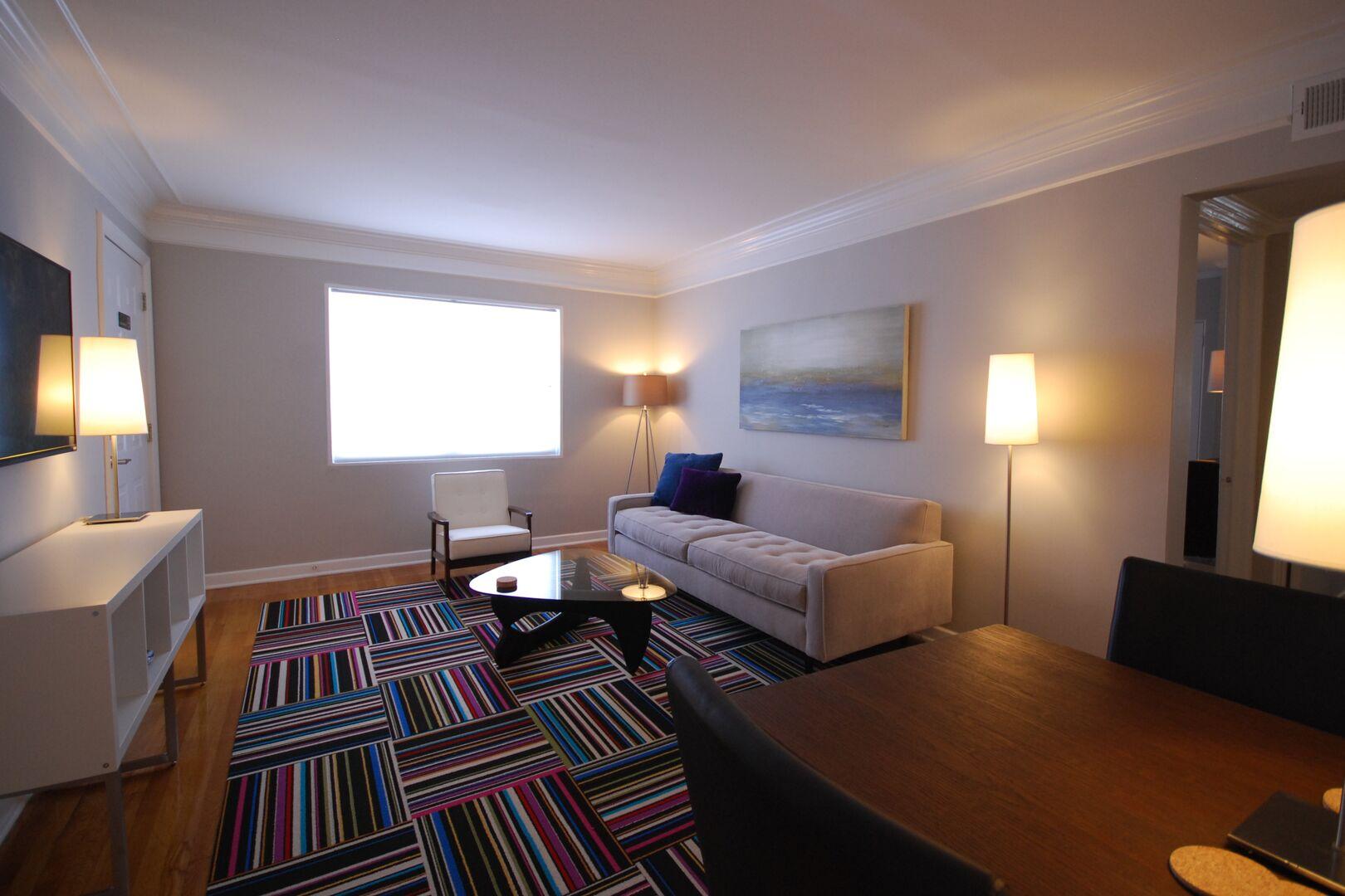 Brookwood Courtyard Condos - Designer Living Room