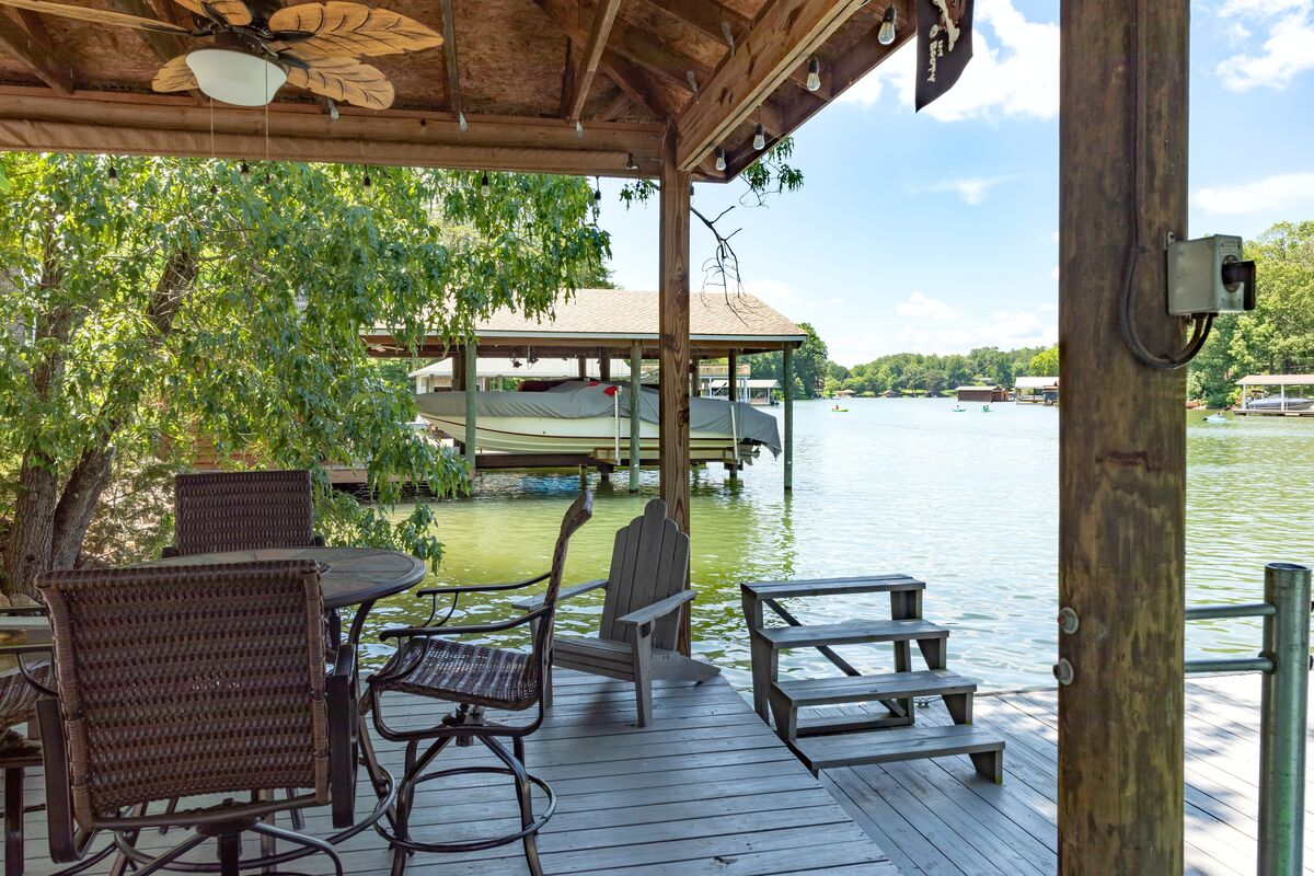 Seating on the Dock at Lake Lover's Delight