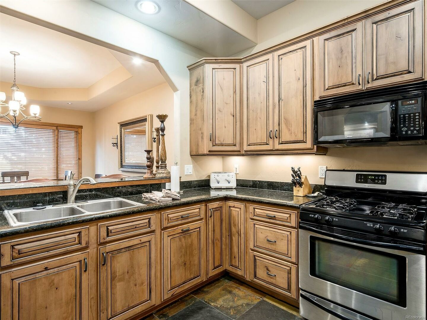 Kitchen with Microwave and Toaster.