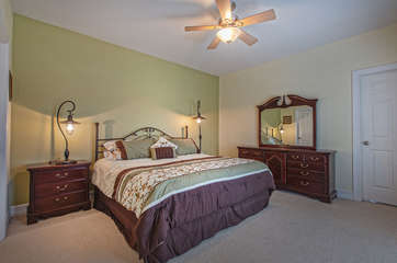 Main Level Master Bedroom with King Bed