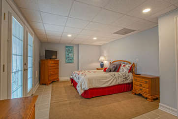Lower Level Bedroom with Queen Bed in our Smith Mountain Vacation Rental