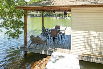 Another View of the Dock at our Smith Mountain Vacation Rental