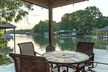 Dine Al Fresco on the Dock of Lake Lover's Delight