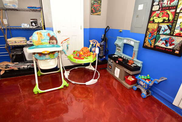 Plenty of toys and equipment for little ones