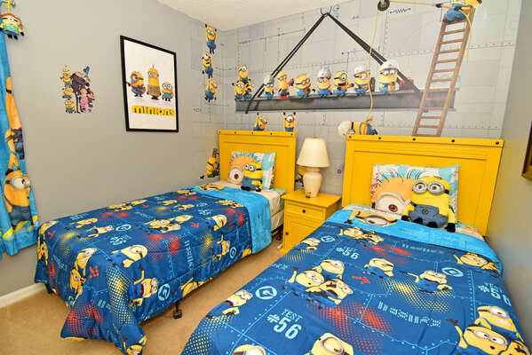 Bedroom 3 with a mischievous Minions theme