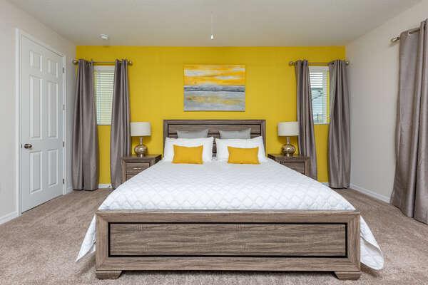 First floor bedroom designed for comfort