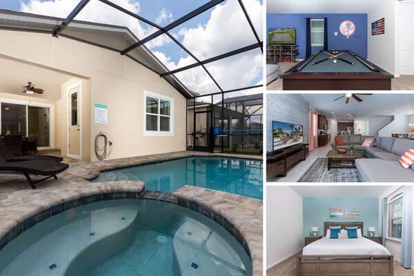 Welcome to Serenity at Solara, a gorgeous 5 bedroom pool home rental. PHOTOS TAKEN: August 2018