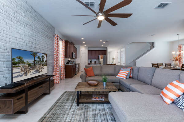 Beautiful open living space is perfect for the whole family to relax