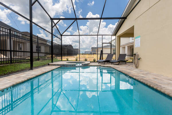 Swim all day at your screened in pool