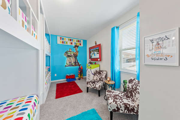 Play like a toy in this fun kids bedroom!