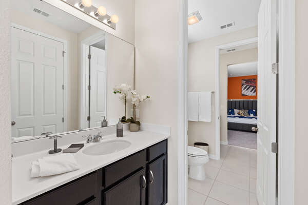 Attached Jack and Jill bathroom
