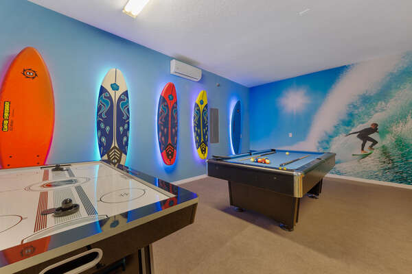 Pool table and air hockey table