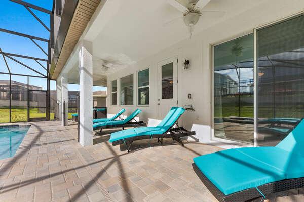 Lounge on comfortable patio furniture