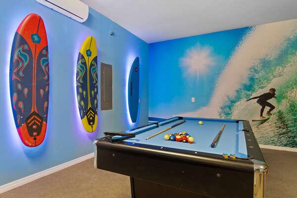 Custom surfer decor