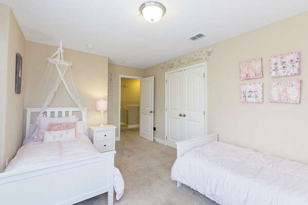Kids will love this pretty bedroom