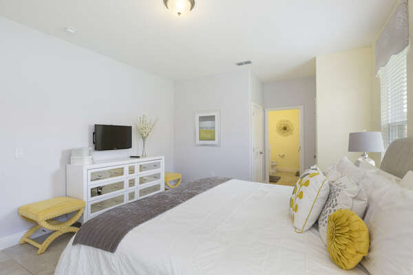 Relax in this bright and sunny bedroom