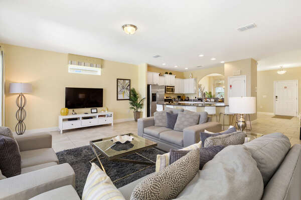 The whole family can spend time together in the open living space