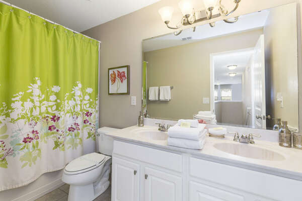 Bathroom with combo tub/shower
