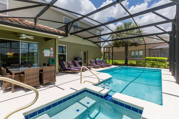 Relax at your own private screened-in pool