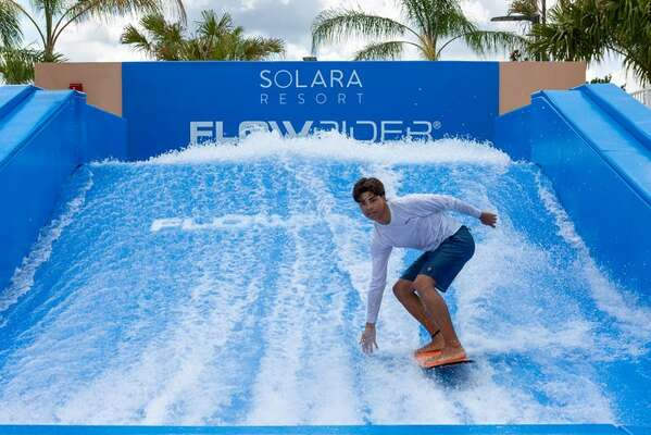 Head to the Solara Resort Clubhouse to try out the FlowRider