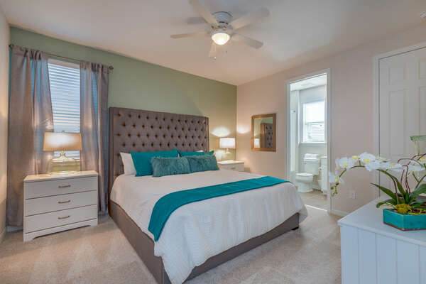 Second floor King bedroom was designed with relaxation in mind