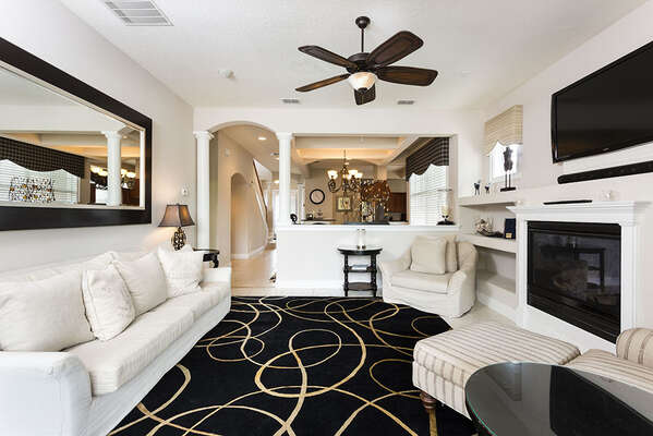 The whole family will love this exquisitely designed open living area
