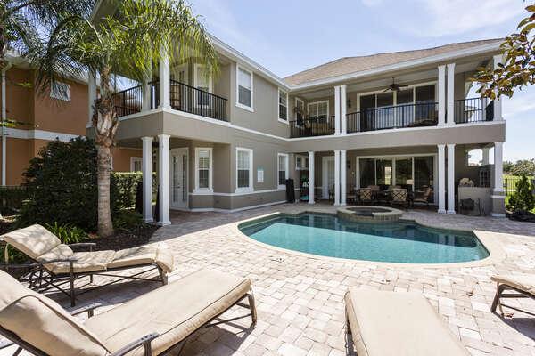 Soak up the Florida sunshine on the patio loungers
