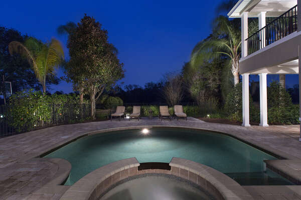 Spend your evenings at your own private pool