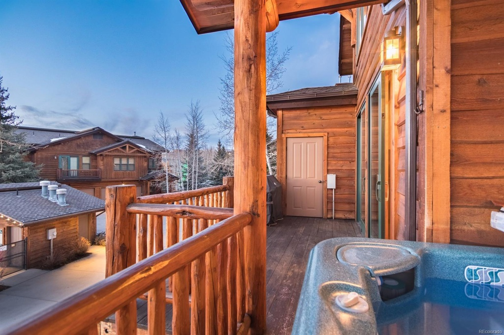 Enjoy a Hot Tub on Wooden Deck.