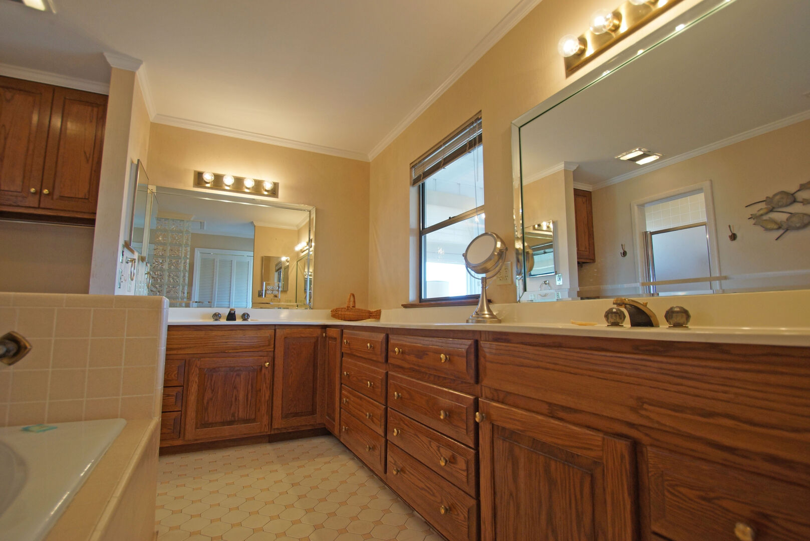 Master Bathroom with Double Vanity