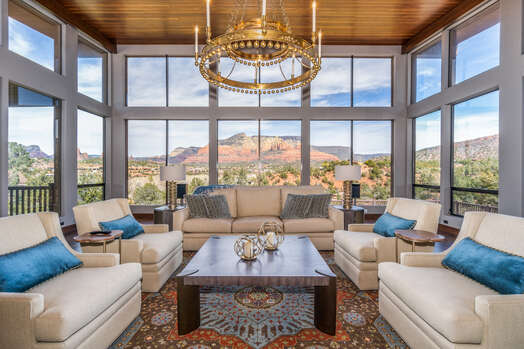 Comfortable and Modern Furnishings with Plenty of Natural Light and Breathtaking Views