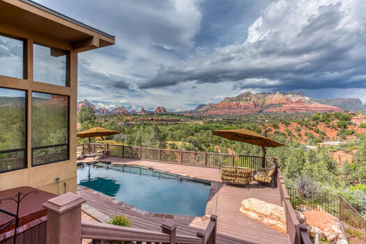 Private Seasonal Pool and Deck with Great Views!