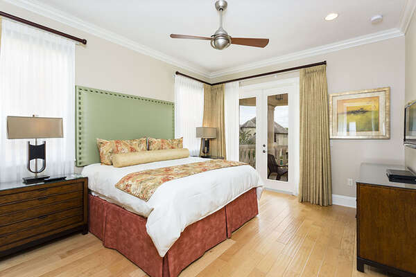 Second floor master bedroom featuring a King bed