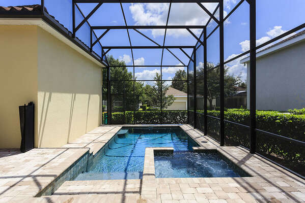 Enjoy your private screened in pool