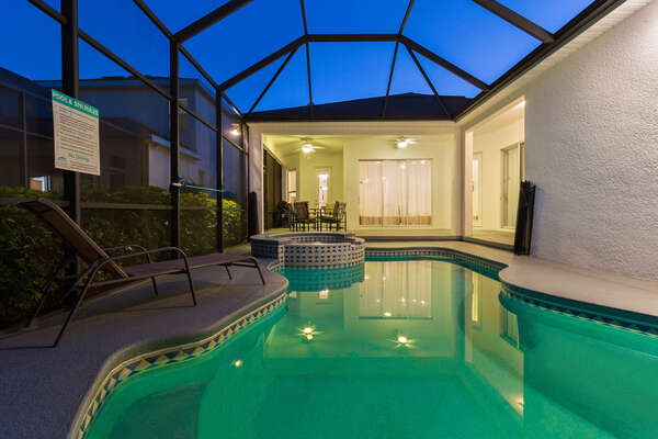 Homestead Contemporary is a luxurious 4 bedroom pool home rental in Reunion Resort