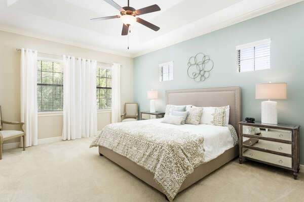 Comfortable King master suite