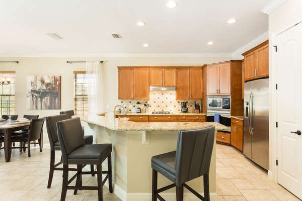 Fully equipped kitchen is perfect for preparing meals