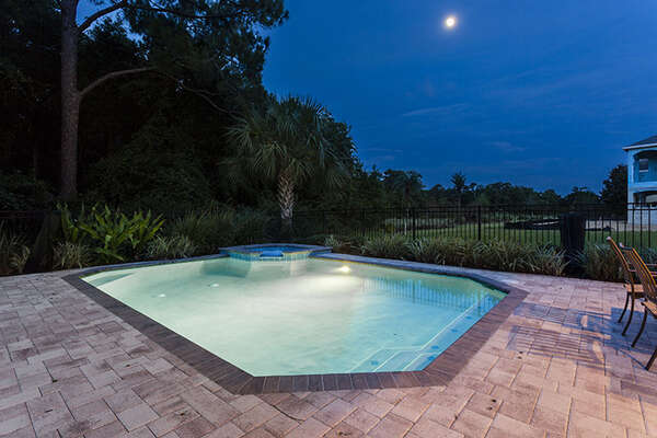 Spend evenings poolside at your own private pool